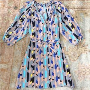 Tucker by Gaby Basora Silk Shirt Dress